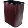 "Carver Rectangular Waste Basket - 4.25 gal Capacity - Rectangular - 16.4"" Height x 14.3"" Width x 10"" Depth - Wood - Mahogany"