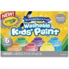 Crayola Metallic Colors Washable Kids Paint - 2 oz - 6 / Set - Red, Yellow, Blue, Green, Purple, Orange