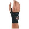 Ergodyne ProFlex 4000 Single Strap Wrist Support - Elastic Strap, Hook & Loop Closure, Machine Wash, Odorless - Strap Mount - Black