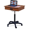 "Hausmann Model 9210 Mobile Computer Station - Rectangle Top - 5-star Base - 1 Drawers - 22"" Table Top Width x 20"" Table Top Depth - 36"" Height - Assembly Required"