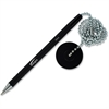 Integra Antimicrobial Rubber Barrel Counter Pen - Black - Rubber Barrel - 1 Each