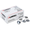"Lorell 5/16"" Steel Thumb Tacks - 0.31"" Shank - 0.38"" Head - for Schedule, Wall - 100 Pack - Silver - Nickel Plated"