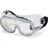 Crews Anti-fog Clear Standard Goggles - Debris, Flying Particle, Ultraviolet Protection - Polyvinyl Chloride (PVC) Frame, Polycarbonate Lens, Rubber Strap - Clear - 1 Each