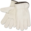 MCR Safety Cowhide Driver's Gloves - XXL Size - Keystone Thumb Pattern - Cowhide Leather, Elastic Back, Cotton Liner - Beige - Durable, Abrasion Resistant, Comfortable - For Carpentry, Driving, Constr