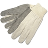 MCR Safety General Purpose Cotton Canvas Gloves - Dotted - Cotton, Canvas - White - For General Purpose, Construction, Baggage Handling - 12 / Pack