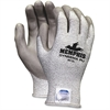 Memphis Dyneema Dipped Safety Gloves - Large Size - Polyurethane Palm - Gray - Breathable, Tear Resistant, Cut Resistant, Abrasion Resistant, Comfortable - For Material Handling, Farming, Plumbing, La