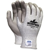 Memphis Dyneema Dipped Safety Gloves - X-Large Size - Polyurethane Palm, Polyurethane Fingertip - Gray - Breathable, Comfortable, Abrasion Resistant, Tear Resistant, Cut Resistant, Durable, Sturdy - F