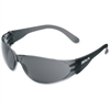 Crews Checklite Gray Lens Safety Glasses - Ultraviolet Protection - Polycarbonate Lens, Polycarbonate Frame - Gray - 1 Each