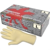 MCR Safety Powder-free Rubber Latex Polymer Gloves - Large Size - Latex - White - Powder-free, Disposable, Anti-microbial, Anti-bacterial, Chlorinate - For Assembling, Food Handling, Painting, Mail So