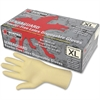 Latex Polymer Disposable Gloves - X-Large Size - Latex - White - Powdered, Disposable, Anti-microbial, Anti-bacterial - For Assembling, Food Handling, Painting, Industrial, Mail Sorting - 1