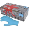 MCR Safety Disposable Powder Free Nitrile Gloves - Large Size - Nitrile, Synthetic Latex - Blue - Disposable, Powder-free, Textured, Puncture Resistant, Chemical Resistant, Ambidextrous - For Multipur