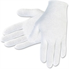 MCR Safety Cotton Inspectors Gloves - Cotton - White - Breathable, Comfortable, Lightweight - For Material Handling, Inspection - 1 / Pack