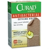 """Curad Antibacterial Extrm Hold Bandages - 0.75"""" x 3"""" - 30/Box - Brown"""