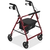 Medline Basic Steel Rollator - 350 lb Load Capacity