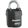 Master Pro Series Rekeyable Padlock - Keyed Different - Steel Body, Hardened Boron Alloy Shackle - Black