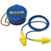 E-A-R Ultrafit Multi-Use Earplugs - Noise Protection - Polymer, Foam, Vinyl Cord, Plastic - 50 / Box - Yellow, Blue