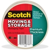 "Scotch Premium Thickness Moving & Storage Packaging Tape - 1.18"" Width x 60 yd Length - 3"" Core - Acrylic - Acrylic Backing - Durable - 1 / Roll - Clear"
