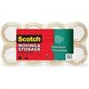 """Scotch Premium Thickness Moving & Storage Packaging Tape Value Pack - 1.18"""" Width x 60 yd Length - 3"""" Core - Acrylic - Acrylic Backing - Durable - 8 / Pack - Clear"""