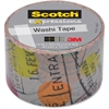 "Scotch Expressions Washi Tape - 1.18"" Width x 32.75 ft Length - Easy Tear, Writable Surface, Repositionable - 1 / Roll - Assorted"