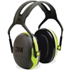 Peltor X4A Earmuffs - Noise, Noise Reduction Rating Protection - Foam Liner, Steel - Black, Green - 1 / Each