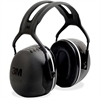 Peltor X-Series Over-The-Head X5 Earmuffs - Noise, Noise Reduction Rating Protection - Foam Liner, Steel - Black - 1 / Each