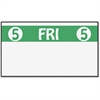 "Monarch FreshMarx Color Coded Label - Permanent Adhesive - ""5 FRI 5"" - 2500 / Roll - White, Green - 1 Roll"