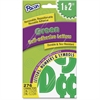 Pacon Reusable Self-Adhesive Letters - Uppercase Letters, Punctuation Marks, Number - Self-adhesive - Reusable, Durable, Removable, Acid-free, Tear Resistant, Repositionable, Fade Resistant - Green -