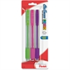 Pentel Clic Assorted Color Erasers - Lead Pencil Eraser - Latex-free Grip, Scuff-free, Smear Resistant, Tear Resistant, Pocket Clip, Retractable - 3/Pack - Assorted