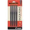 Razor Point Fine Line Marker Pens - Ultra Fine Point Type - 0.3 mm Point Size - Black - 4 / Pack