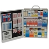 "Pac-Kit Safety Eq. 3-shf Industrl 1st Aid Station - 493 x Piece(s) - 17.5"" Height x 13.5"" Width x 6"" Depth - Steel Case - 1 / Kit"