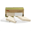 "Redi-Tag TreeFrog Standard Sticky Notes - 103 x Classic White - 2"" x 1.50"" - Rectangle - Plain - Classic White - Sugarcane - Self-adhesive, Writable, Eco-friendly, Smooth - 100 / Each"