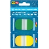 "Redi-Tag Pop-up Assorted Color Index Tabs - Write-on - 1"" Tab Height x 1.70"" Tab Width - Self-adhesive - Green, Yellow Plastic Tab - 44 / Pack"