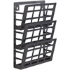 "Safco 3-Pocket Grid Magazine Rack - 3 Compartment(s) - Compartment Size 4"" x 9.25"" x 2"" - 13.5"" Height x 9.5"" Width x 5.5"" Depth - Wall Mountable - Black - Steel - 1Each"