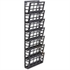 "Safco 7-Pocket Grid Magazine Rack - 7 Compartment(s) - Compartment Size 4"" x 9.25"" x 2"" - 29.5"" Height x 9.5"" Width x 5.5"" Depth - Wall Mountable - Black - Steel - 1Each"