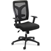 "Voice Series Mesh Back Task Chair - Fabric Black Seat - Black Back - 5-star Base - 19.50"" Seat Width x 19.50"" Seat Depth - 26"" Width x 26"" Depth x 44.5"" Height"