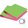 "Samsill Fashion Two-tone Round Ring Binders - 1"" Binder Capacity - Letter - 8 1/2"" x 11"" Sheet Size - Round Ring Fastener - 2 Internal Pocket(s) - Polypropylene - Pink, Green - Recycled - 2 / Pack"