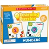 Scholastic Puzzle - Skill Learning: Number Recognition, Picture Matching, Color, Shape - 10 Pieces