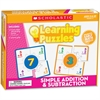 Scholastic Puzzle - Skill Learning: Addition, Subtraction, Picture Words - 10 Pieces