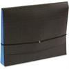 "SJ Paper Fusion Clutch Organizer - Letter - 8 1/2"" x 11"" Sheet Size - 1 3/4"" Expansion - 23 pt. Folder Thickness - Stock, Tyvek - Black, Blue - Recycled - 1 Each"