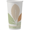 Bare PLA-lined Hot Cups - 20 fl oz - 40 / Pack - White, Brown, Green - Paper - Hot Drink