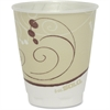 Solo Symphony Design Trophy Foam Hot/Cold Cups - 8 fl oz - 100 / Pack - Beige - Polyethylene, Foam - Hot Drink, Cold Drink, Coffee, Tea, Cocoa