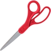 "Sparco 8"" Bent Multipurpose Scissors - 8"" Overall Length - Bent - Stainless Steel, Acrylonitrile Butadiene Styrene (ABS) - Red"