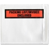 "Sparco Pre-Labeled Waterproof Packing Envelopes - Packing List - 4.50"" Width x 5.50"" Length - Self-adhesive Seal - Low Density Polyethylene (LDPE) - 1000 / Box - White"