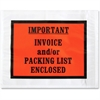 "Sparco Pre-labeled Important Invoice Envelopes - Packing List - 5.50"" Width x 4.50"" Length - 70 g/m² - Self-adhesive Seal - Paper, Low Density Polyethylene (LDPE) - 1000 / Box - White"