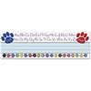 "Teacher Created Resources Paw Alphabet Name Plates - Acid-free - 3.50"" Height x 11.50"" Width - 1 / Pack"