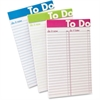 "Ampad To Do List Notepad - 50 Sheets - Printed 5"" x 8"" - White Paper - Assorted Cover - 6 / Pack"