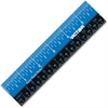 "Victor Plastic Dual Color 12"" Easy Read Ruler - 12"" Length - 1/4, 1/8, 1/16 Graduations - Imperial, Metric Measuring System - Plastic - 1 Each - Blue, Black"