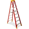 "Fiberglass 8' Step Ladder - 300 lb Load Capacity - 96"" x 26.9"" x 52.1 ft - Orange"
