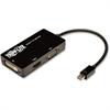 """Tripp Lite 6in Mini DisplayPort to VGA / DVI / HDMI Adapter Converter mDP 6"""" - Mini DisplayPort/VGA/DVI/HDMI for Audio/Video Device, Monitor, Tablet, MacBook Air - 6"""" - 1 x Mini DisplayPort Male Digit"""