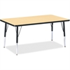 "Berries Ht Maple Top Blk Edge Rect. Table - Rectangle Top - 48"" Table Top Length x 30"" Table Top Width x 1.13"" Table Top Thickness - 24"" Height - Assembly Required - Powder Coated - Steel"